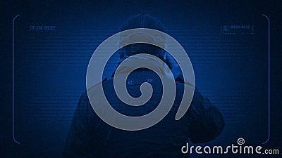 Toezicht op de Mens die op Telefoon bij Nacht spreken stock videobeelden