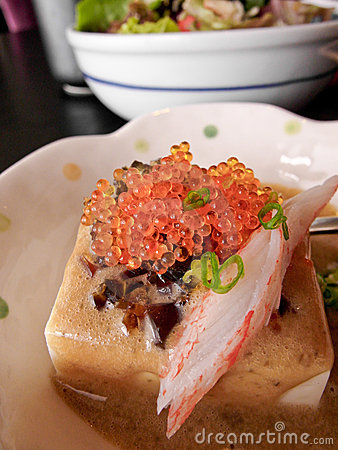 Tofu with crab roe