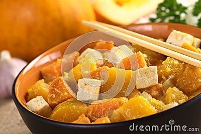 Tofu, Pumpkin and Sweet Potato Curry