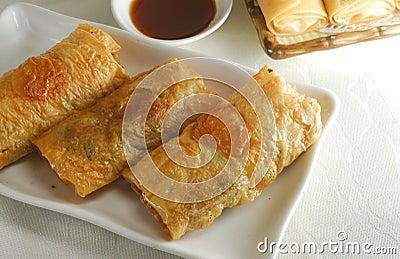 Tofu roll dim sum