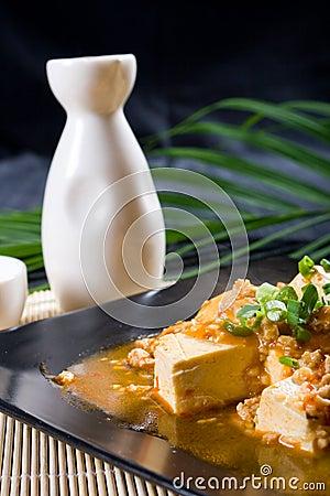 Tofu and saki