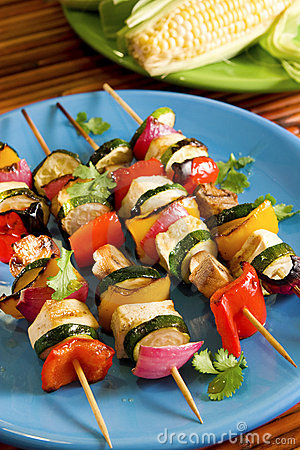 Free Tofu Vegetable Kebabs Stock Photo - 5166970