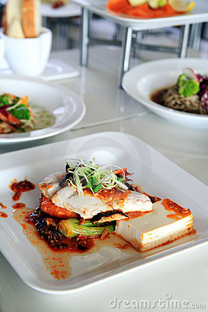 Tofu in XO sauce