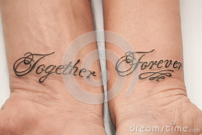 Together forever stock photo image 55112918 for Together forever tattoos