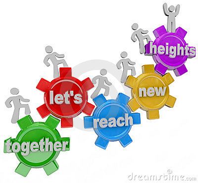 Together Let s Reach New Heights Team on Gears
