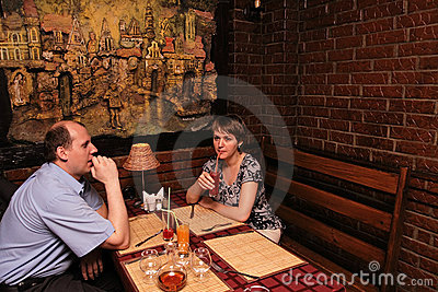 Together in restaurant