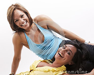 Together woman smiling
