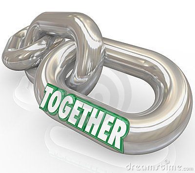 Together Word Metal Links Connections