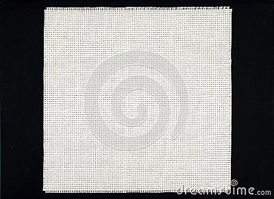 Toile blanche de tissu d Aida