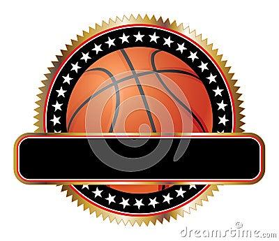 Étoiles d emblème de conception de basket-ball