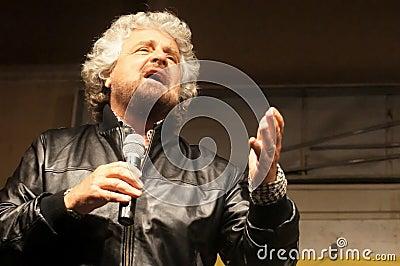 Étoiles du mouvement cinq de Beppe Grillo Photographie éditorial