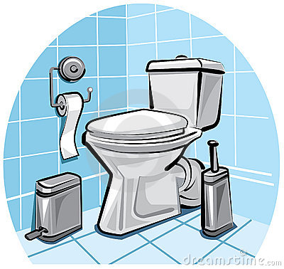 Toilet royalty free stock photography image 17366497 for Badezimmer clipart