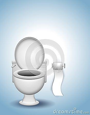 Free Toilet And Toilet Paper Stock Photo - 5402790