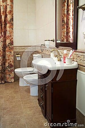 Toilet bowl, bidet and sink