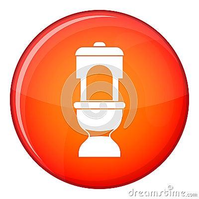 Toilet bowl icon, flat style Vector Illustration