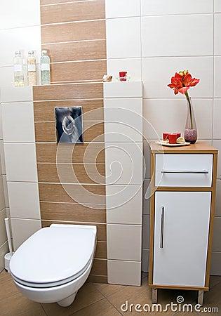 Toilet corner.