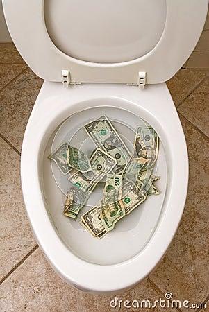 Toilet and money