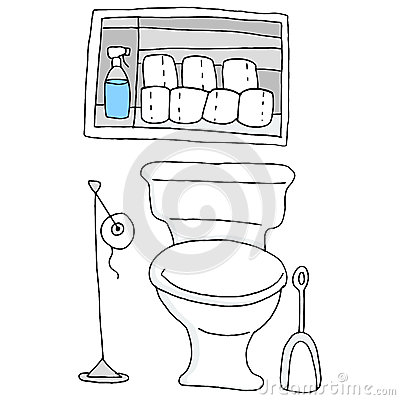 Toilet Paper Bathroom Stock Vector Image 39635288