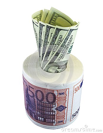 Toilet paper EUR and USD