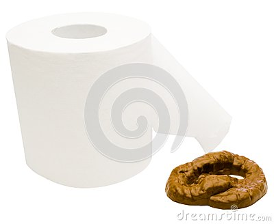 Toilet paper with feces