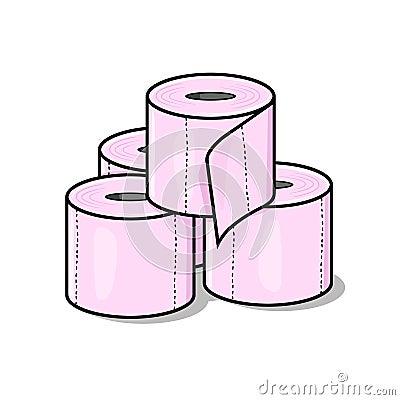 Toilet Paper Illustration