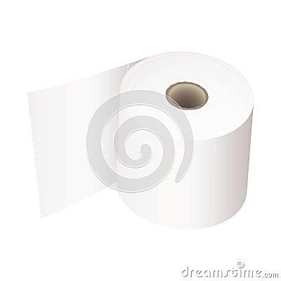 Toilet roll white