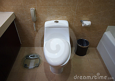 Toilet in a  room