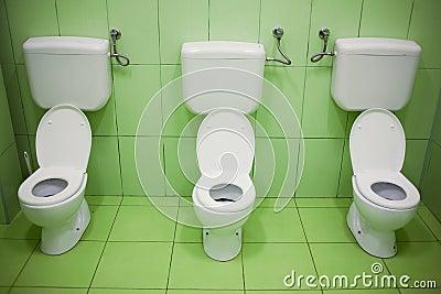 Toilet seats in kindergarten