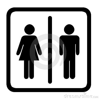 Free Toilet Sign Stock Image - 4083231