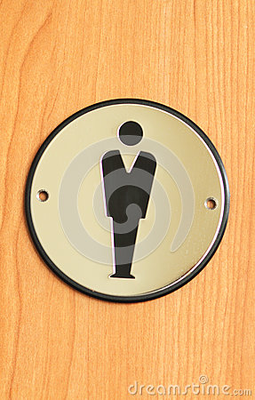 Free Toilet Sign For Men Royalty Free Stock Images - 24636379
