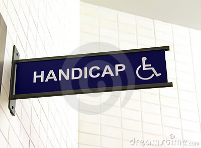 Toilet sign for handicap