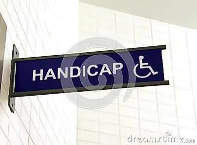 Toilet sign for handicap