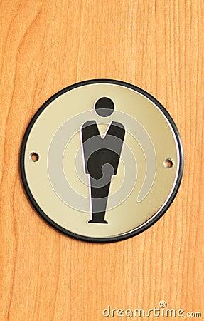 Toilet sign for men