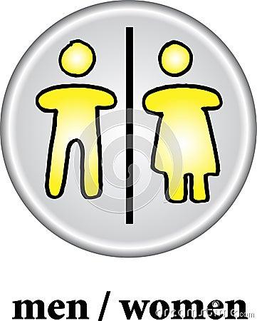Free Toilet Sign - WC Men/women Stock Photo - 7712660