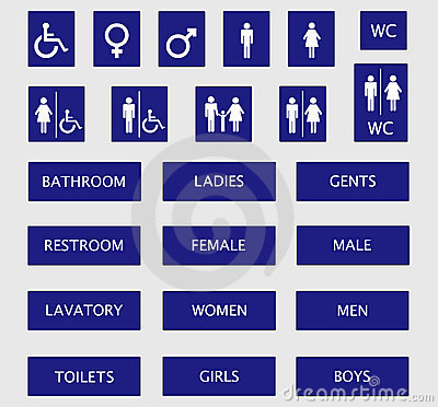 Free Toilet Signs Royalty Free Stock Photography - 3285047