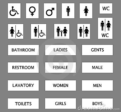 Free Toilet Signs Stock Images - 3285134