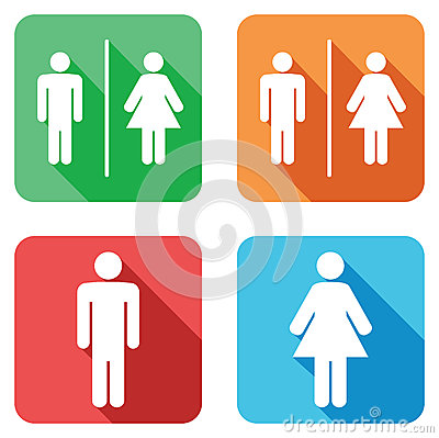 Free Toilet Signs Royalty Free Stock Images - 44771949