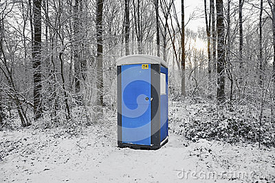 Toilet the snow