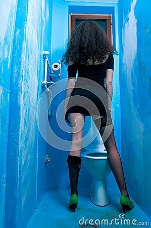 Toilet woman