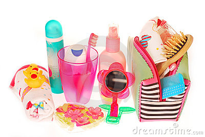 Toiletries stuffs for little girl