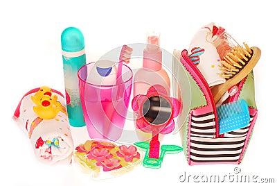 Toiletries stuffs for little girl