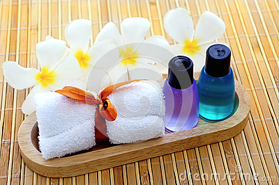 Toiletries with towel