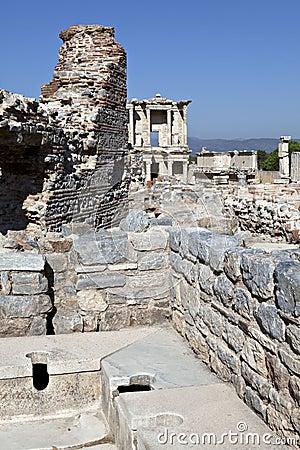 Toilets in Ephesus