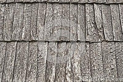 Toit en bois de bardeau