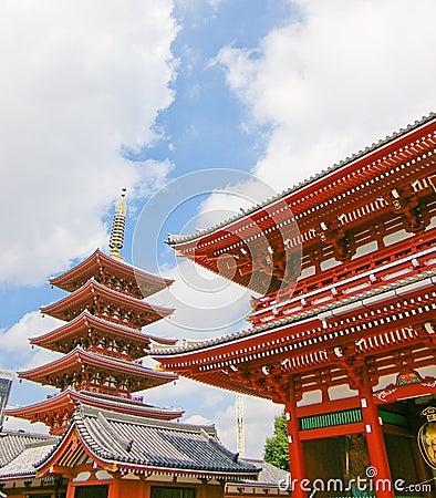 Toit japonais de temple