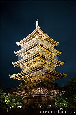 Free Toji Pagoda Temple, Japan Travel Stock Images - 107252574
