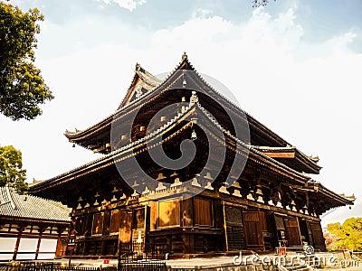 Toji temple with blue sky, Kyoto, Japan