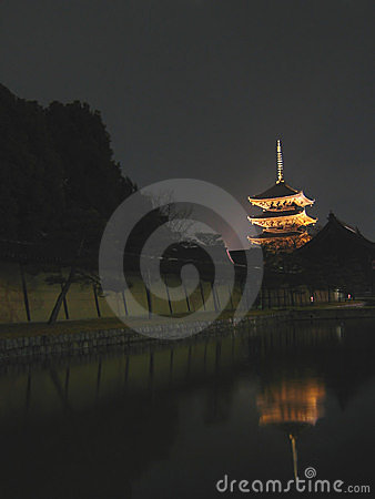 Toji Temple at Night - Kyoto, Japan