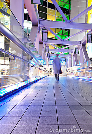Tokyo City at night time on bridge