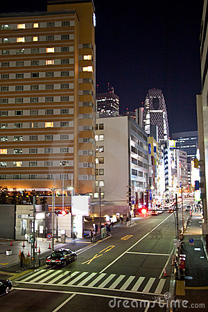 Tokyo City street at night